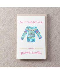 Favourite Sweater Love  Card