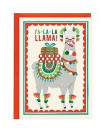 Fa-la-la-Llama A6 Christmas Card
