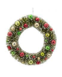 "Large Green Brush Wreath - 11.5"""