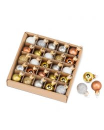 "S/25 Metallic Mini Ball Ornament - 0.75"""