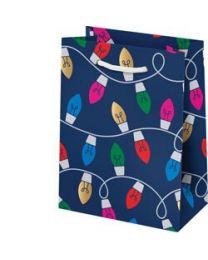 String of Lights Foil Small Christmas Bag