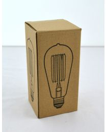 Vintage Light Bulb ST58 60W
