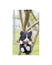 Pet Pals - Black/White Kitten Hanging