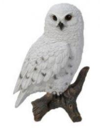 Snowy Owl on Stump - Small