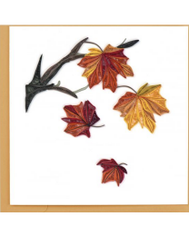 AUTUMN LEAVES Quilling Card