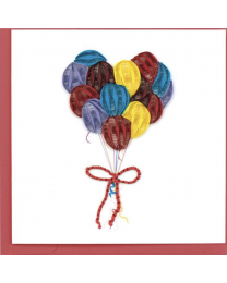 BALLOONS Quilling Card