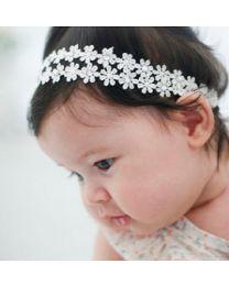 Twin Cubic Flower Headband
