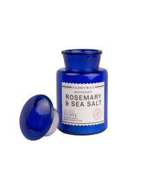 BLUE APOTHECARY 8 OZ ROSEMARY & SEA SALT GLASS CANDLE
