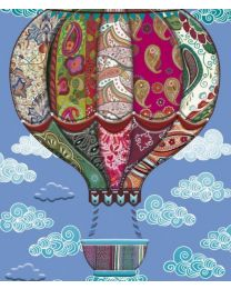 C'EST CHIC - HOT AIR BALLOON Card