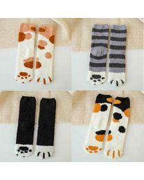 Cat Paw Fuzzy Socks