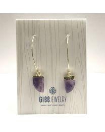 Chic Earrings-gold/amethyst