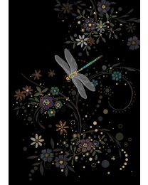 DRAGONFLY IN A SWIRL Card