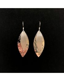Silver Double Solid Leaf Earrings