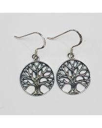 Silver Tree of Life Dangle Earrings