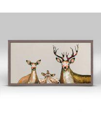 Flower Deer Family on Cream by Eli Halpin