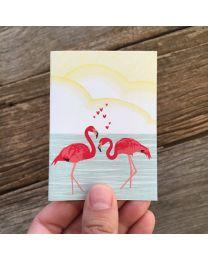 FLAMINGO LOVE MINI CARD