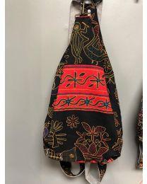 Patterned Bag - Red & Black
