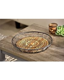 Table Tray with Tribal Design