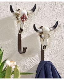 Resin Western Skull Wall Hook