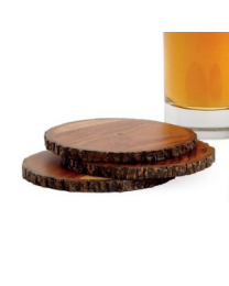 Sienna Wooden Coasters, Set of Four