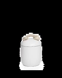 Cape White Ceramic Canister - Small
