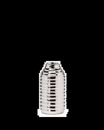 """Hive Ceramic 6""""h Vase - Silver"""