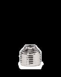 "Hive Ceramic 4""h Round Vase - Silver"