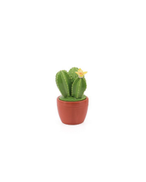 Flowering Cactus Decor Mini Canister - Yellow