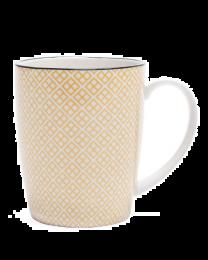 Kiri Porcelain Mug - Yellow with Black Trim