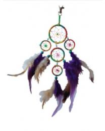 DREAM CATCHER 9IN (5 RINGS) MIXED COLOR