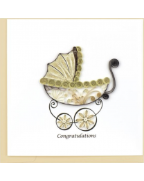 BABY CARRIAGE Quilling Card