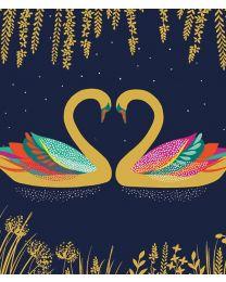 SARA MILLER - HEART SWANS Card