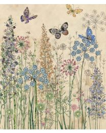 BUTTERFLY GRASSES - BLANK Card