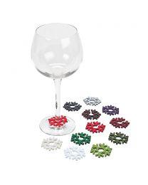 Snowflake Wine Markers - Set of 12