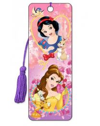 3D BOOKMARK - SNOW WHITE AND BELLE