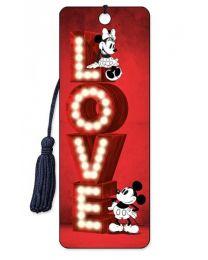 3D BOOKMARK - MICKEY - LOVE