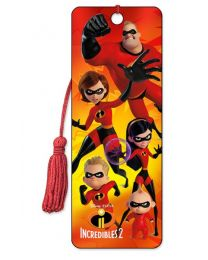 3D BOOKMARK - THE INCREDIBLES