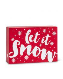 Rectangle Block-Let It Snow
