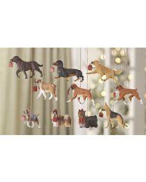Resin Christmas Dog Ornament