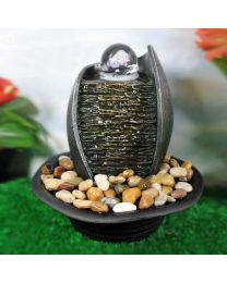 ROCK WALL FOUNTAIN - 4 COLOR LED 9X9X9