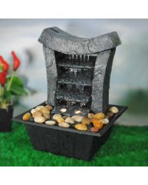 FOUNTAIN WATER WALL W/ 2 LED 8X8X10