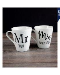 S/2 MUG - MR.RIGHT+MRS.ALWAYS RIGHT
