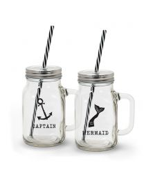 Boat Mugs with Straw 18oz S/2