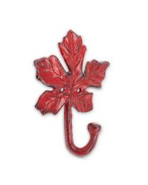 Maple Leaf Wall Hook - Antique Red