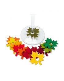 Leaf Wine Charms S/12