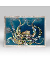 Octopus in the Deep Blue Sea by Eli Halpin - Mini Framed Canvas 7x5