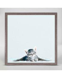 Cozy Kitten by Cathy Walters - Mini Framed Canvas 6x6