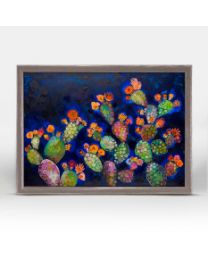 Blooming Prickly Pears by Eli Halpin - Mini Framed Canvas 7x5