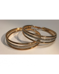 EARRING - STARDUST TRIPLE LINK - GOLD