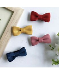 Mini Ribbon Hairpin - Yellow